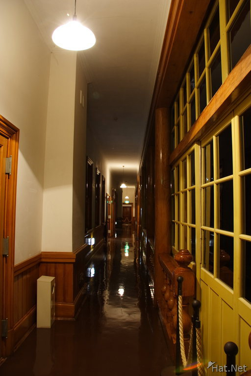 hallway of old hakodate public hall