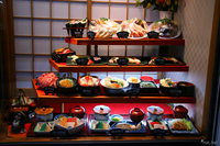 food--noboribetsu - set meal display in a japanese restaurant