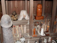 secret stash of sex toys hidden in another shrine room