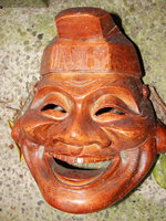 happy wooden face