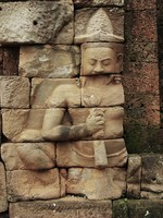 stone man Siem reap, South East Asia, Cambodia, Asia