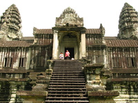 angkor main towers Siem reap, South East Asia, Cambodia, Asia