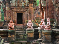 view--banteay srei Siem Reap, South East Asia, Cambodia, Asia