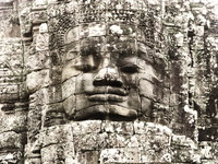 face of jayavarman vii Siem reap, South East Asia, Cambodia, Asia
