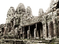 view--bayon temple Siem reap, South East Asia, Cambodia, Asia
