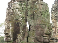 twin faces of jayavarman Siem reap, South East Asia, Cambodia, Asia