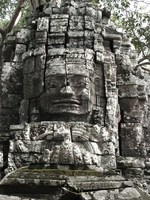 ta som gopura face Siem Reap, South East Asia, Cambodia, Asia