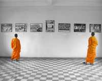 view--lament of monks Phnom Penh, South East Asia, Vietnam, Asia