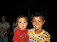 laos brothers Vientiane, Hin Boun Village, South East Asia, Laos, Asia