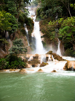 kuangxi waterfall Luang Prabang, South East Asia, Laos, Asia