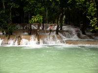 tad sae waterfall Luang Prabang, South East Asia, Laos, Asia