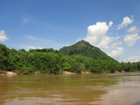 scenery of mekong river Pakbeng, Luang Prabang, South East Asia, Laos, Asia