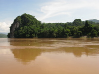forest of mekong river Pakbeng, Luang Prabang, South East Asia, Laos, Asia
