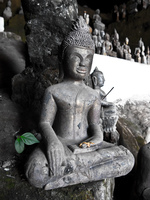 gray buddha Pakbeng, Luang Prabang, South East Asia, Laos, Asia