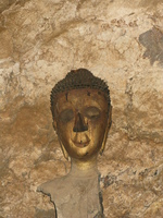 buddha head in pak ou cave Pakbeng, Luang Prabang, South East Asia, Laos, Asia