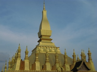 pha that luang - national emblem of laos Vientiane, South East Asia, Laos, Asia