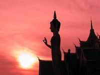 view--sunset buddha Vientiane, South East Asia, Laos, Asia