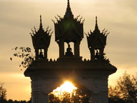 pha that luang gate Vientiane, South East Asia, Laos, Asia