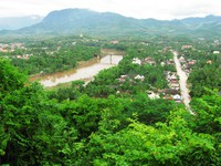 luang prabang from phousi temple Luang Prabang, South East Asia, Laos, Asia