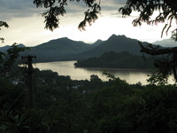 sunset phousi Luang Prabang, South East Asia, Laos, Asia