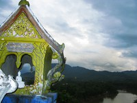 mini phousi shrine Luang Prabang, South East Asia, Laos, Asia