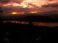 laos sunset Luang Prabang, South East Asia, Laos, Asia