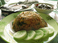 food--fried rice and algoo at taj maha Vientiane, South East Asia, Laos, Asia