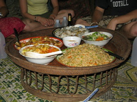 food--homestay dinner at bin boun Vientiane, Hin Boun Village, South East Asia, Laos, Asia