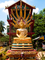 buddha protected by the naga king Vientiane, South East Asia, Laos, Asia