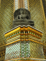 buddha on decorated seat Bangkok, South East Asia, Thailand, Asia