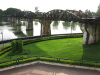 bridge over river kwai Kanchanaburi, South East Asia, Thailand, Asia