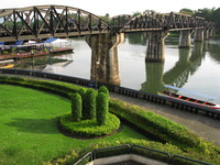 river kwai bridge Kanchanaburi, South East Asia, Thailand, Asia