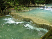 source of erawan waterfall Kanchanaburi, South East Asia, Thailand, Asia