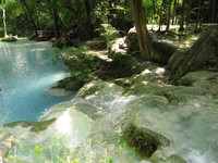 erawan pond Kanchanaburi, South East Asia, Thailand, Asia