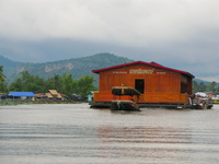 floating party house Kanchanaburi, South East Asia, Thailand, Asia