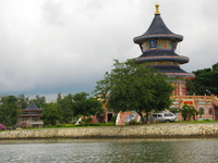 chinese temple along river kwai Kanchanaburi, South East Asia, Thailand, Asia