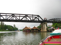 kwai river bridge Kanchanaburi, South East Asia, Thailand, Asia