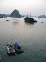 floating market of ha long bay Ninh Binh, Halong Bay, Quang Ninh province, Vietnam, Asia