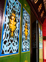 ornated chinese doors Hoi An, My Son, South East Asia, Vietnam, Asia