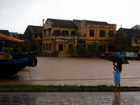 view--hoi an umbrella girl Hoi An, South East Asia, Vietnam, Asia