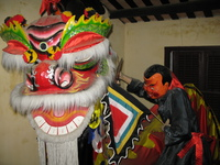 unicorn or lion dance Hoi An, South East Asia, Vietnam, Asia