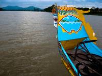 boat to thien mu pagoda Hue, South East Asia, Vietnam, Asia
