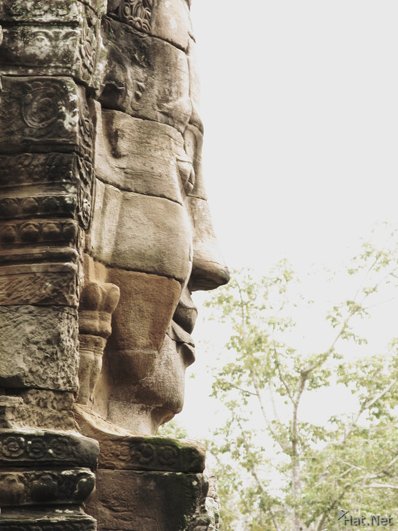 side face of jayavarman