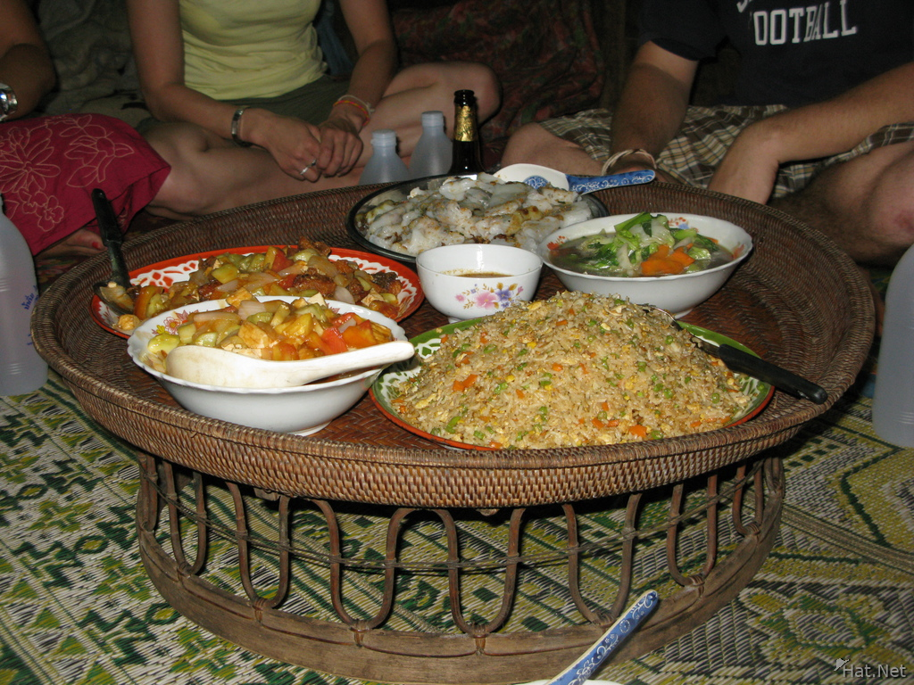 food--homestay dinner at bin boun
