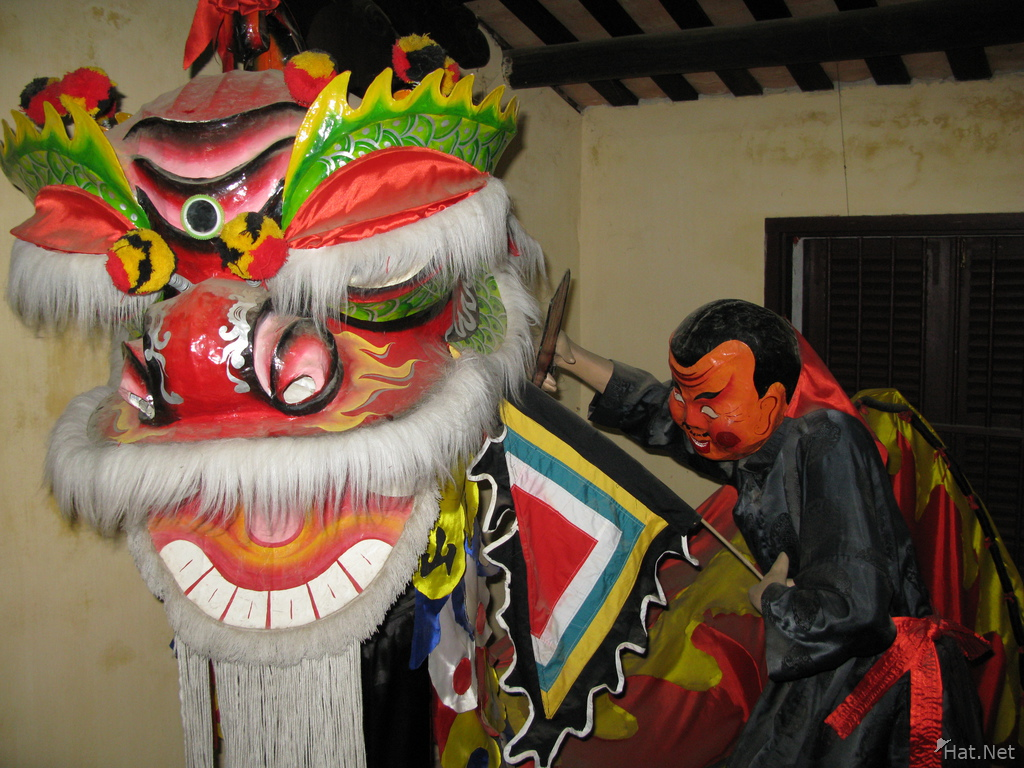 unicorn or lion dance