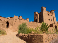 view--entrance to ait ben haddou Ouarzazate, Interior, Morocco, Africa