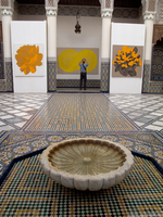 view--yellow painting Marrakech, Interior, Morocco, Africa