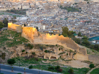 view--fez city wall Fez, Imperial City, Morocco, Africa