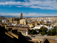 view--cathedral of malaga Malaga, Andalucia, Spain, Europe