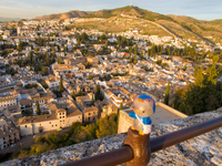 view--hello kitty and alhambra Granada, Andalucia, Spain, Europe